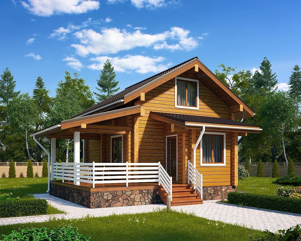 небольшие красивые дома из бруса фото